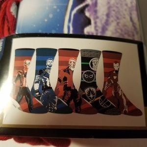 Marvel Avengers Mens Casual Crew Socks 5 Pair